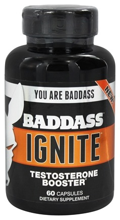 DROPPED: Baddass Nutrition - Ignite Testosterone Booster - 60 Capsules CLEARANCE PRICED