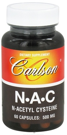 DROPPED: Carlson Labs - N-A-C N-Aectyl Cysteine 500 mg. - 60 Capsules CLEARANCE PRICED