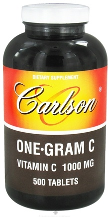 DROPPED: Carlson Labs - One-Gram C Vitamin C 1000 mg. - 500 Tablets