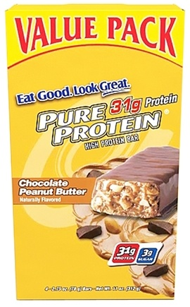 DROPPED: Pure Protein - High Protein Bar Value Pack Chocolate Peanut Butter - 4 Bars
