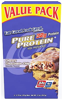DROPPED: Pure Protein - High Protein Bar Value Pack Chewy Chocolate Chip - 4 Bars