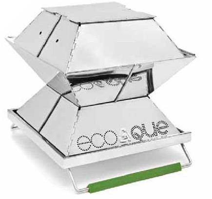 EcoQue - Portable Grill Stainless Steel - 15 in.