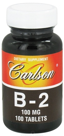 DROPPED: Carlson Labs - Vitamin B2 100 mg. - 100 Tablets CLEARANCE PRICED