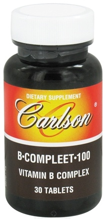 DROPPED: Carlson Labs - B Compleet 100 Vitamin B Complex - 30 Tablets CLEARANCE PRICED