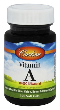 DROPPED: Carlson Labs - Vitamin A Natural 10000 IU - 100 Softgels