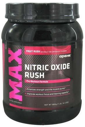 DROPPED: Apex Fitness - Nitric Oxide Rush Fruit Rush - 1 lb. CLEARANCE PRICED