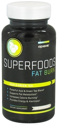 DROPPED: Apex Fitness - Superfoods Fat Burn - 60 Capsules CLEARANCE PRICED