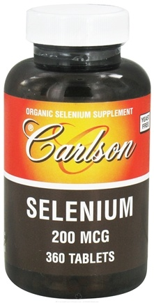 DROPPED: Carlson Labs - Selenium 200 mcg. - 360 Tablets CLEARANCE PRICED