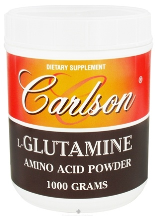 DROPPED: Carlson Labs - L-Glutamine Amino Acid Powder 3000 mg. - 1000 Grams CLEARANCE PRICED