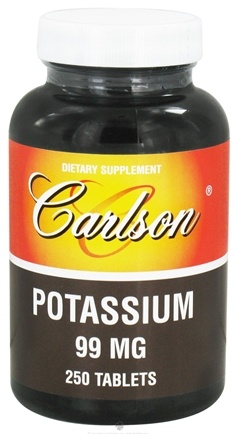 DROPPED: Carlson Labs - Potassium 99 mg. - 250 Tablets CLEARANCE PRICED