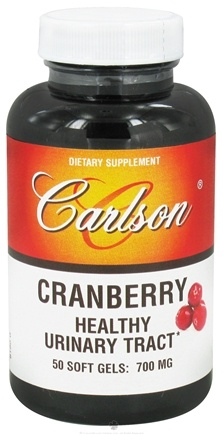 DROPPED: Carlson Labs - Cranberry Concentrate 700 mg. - 50 Softgels