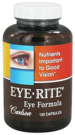 DROPPED: Carlson Labs - Eye-Rite Eye Formula - 120 Capsules CLEARANCE PRICED