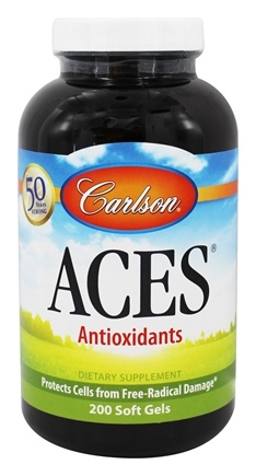 DROPPED: Carlson Labs - ACES Vitamins A, C, E plus Selenium - 200 Softgels