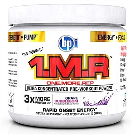 DROPPED: BPI Sports - 1 M.R Ultra Concentrated Pre-Workout Powder - 28 Servings Grape Bubblegum - 140 Grams CLEARANCE PRICED