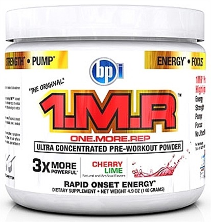 DROPPED: BPI Sports - 1 M.R Ultra Concentrated Pre-Workout Powder - 28 Servings Cherry Lime - 140 Grams CLEARANCE PRICED