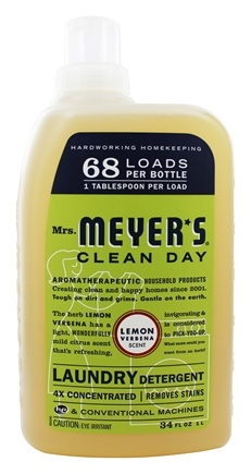 DROPPED: Mrs. Meyer's - Clean Day Laundry Detergent Lemon Verbena - 34 oz.
