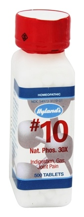 Hylands - Cell Salts #10 Natrum Phosphoricum 30 X - 500 Tablets