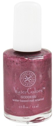 DROPPED: Honeybee Gardens - WaterColors Water Based Nail Enamel Goddess - 0.5 oz. CLEARANCE PRICED