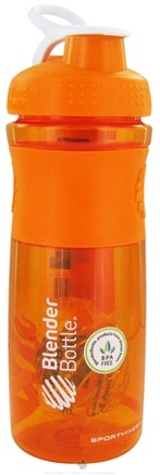 DROPPED: Blender Bottle - SportMixer Tritan Grip Orange/White - 28 oz. By Sundesa CLEARANCE PRICED
