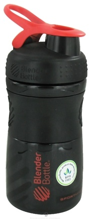 DROPPED: Blender Bottle - SportMixer Tritan Grip Black/Red - 20 oz. By Sundesa CLEARANCE PRICED