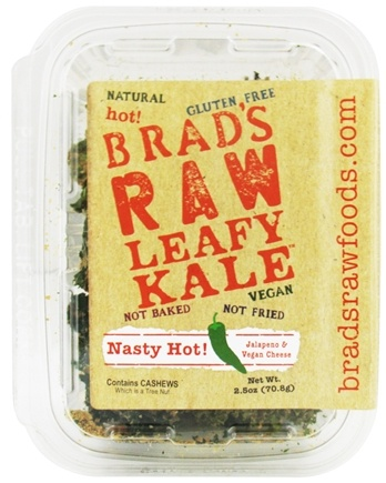 DROPPED: Brad's Raw Foods - Leafy Kale Nasty Hot Vegan Jalepeno & Vegan Cheese - 2.5 oz.