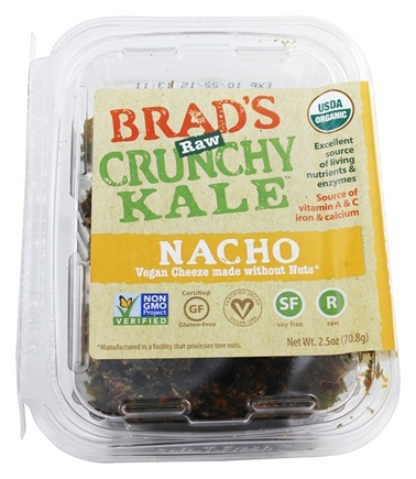 DROPPED: Brad's Raw Foods - Leafy Kale Natural Nacho Vegan Cheese - 2.5 oz.