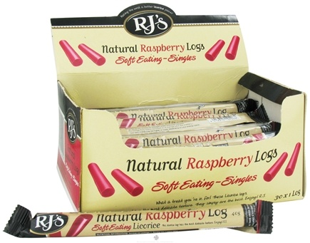 DROPPED: RJ's - Soft Eating Natural Licorice Log Raspberry - 1.4 oz.
