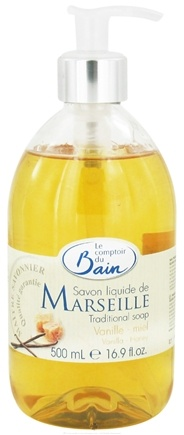 DROPPED: Le Comptoir du Bain - Traditional French Liquid Soap Vanilla Honey - 16.9 oz. CLEARANCE PRICED