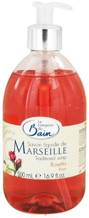 DROPPED: Le Comptoir du Bain - Traditional French Liquid Soap Rose - 16.9 oz. CLEARANCE PRICED