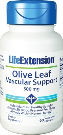 DROPPED: Life Extension - Olive Leaf Vascular Support 500 mg. - 60 Vegetarian Capsules