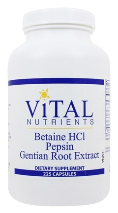 Zoom View - Betaine HCl with Pepsin and Gentian Root Extract