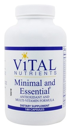 Zoom View - Minimal and Essential Antioxidant and Multi-Vitamin Formula