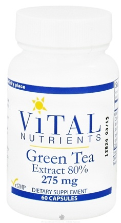 DROPPED: Vital Nutrients - Green Tea Extract 80% 275 mg. - 60 Capsules CLEARANCE PRICED
