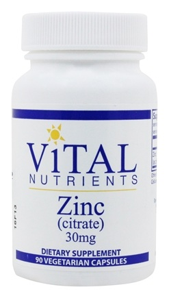 Vital Nutrients - Zinc Citrate 30 mg. - 90 Capsules