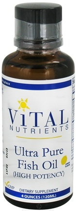 DROPPED: Vital Nutrients - Ultra Pure Fish Oil High Potency Lemon Flavor - 4 oz. CLEARANCE PRICED