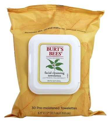 DROPPED: Burt's Bees - Facial Cleansing Towelettes White Tea - 30 Towelette(s)
