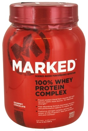 DROPPED: Marked Nutrition - 100% Whey Protein Complex Gourmet Chocolate (32 oz.) - 2 lbs.