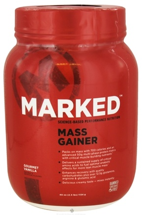 DROPPED: Marked Nutrition - Mass Gainer Gourmet Vanilla - 40 oz.