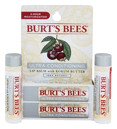 DROPPED: Burt's Bees - Lip Balm Ultra Conditioning - 2 x .15 oz.