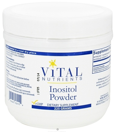 DROPPED: Vital Nutrients - Inositol Powder - 225 Grams CLEARANCE PRICED