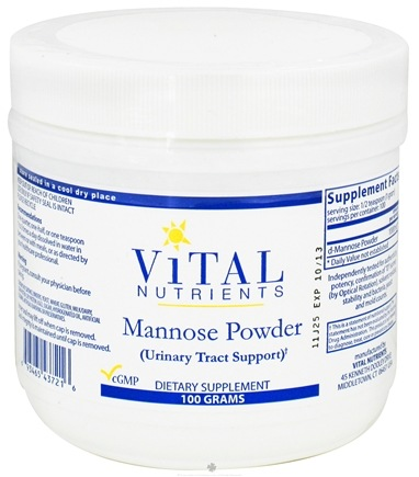 DROPPED: Vital Nutrients - Mannose Powder - 100 Grams