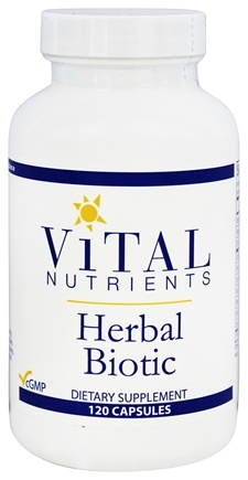 DROPPED: Vital Nutrients - Herbal Biotic - 120 Capsules