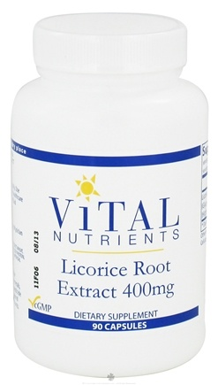 DROPPED: Vital Nutrients - Licorice Root Extract 400 mg. - 90 Capsules