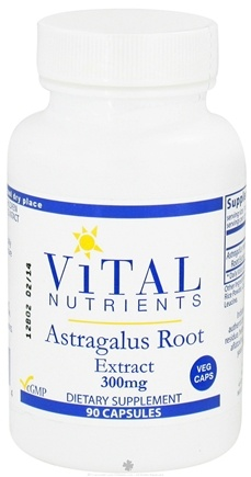 DROPPED: Vital Nutrients - Astragalus Root Extract 300 mg. - 90 Vegetarian Capsules CLEARANCE PRICED