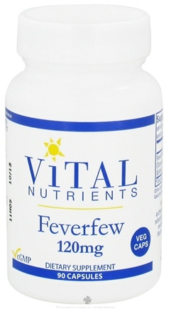DROPPED: Vital Nutrients - Feverfew 120 mg. - 90 Vegetarian Capsules
