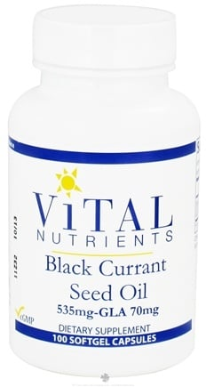 DROPPED: Vital Nutrients - Black Currant Seed Oil with GLA 535 mg/70mg - 100 Softgels