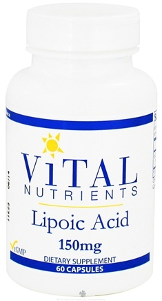 DROPPED: Vital Nutrients - Lipoic Acid 150 mg. - 60 Capsules CLEARANCE PRICED