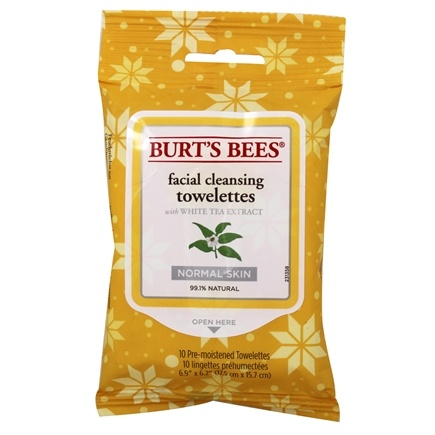 DROPPED: Burt's Bees - Facial Cleansing Towelettes White Tea - 10 Towelette(s)