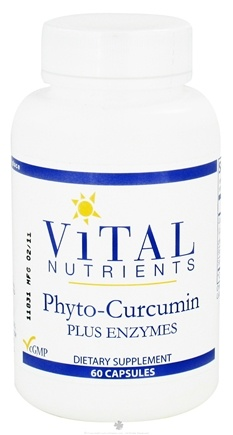 DROPPED: Vital Nutrients - Phyto-Curcumin Plus Enzymes - 60 Capsules CLEARANCE PRICED