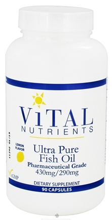 DROPPED: Vital Nutrients - Ultra Pure Fish Oil 430mg/290mg Lemon Flavor - 90 Capsules CLEARANCE PRICED